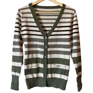 Poof! Striped button up cardigan